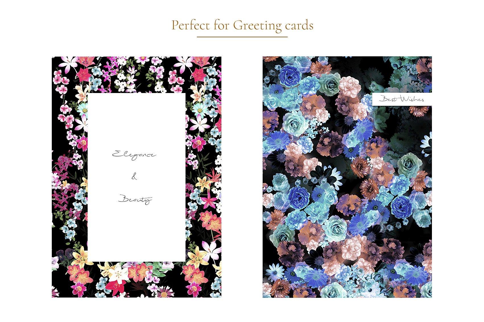 Garden of Eden Flowers Patterns clipArt example image 10