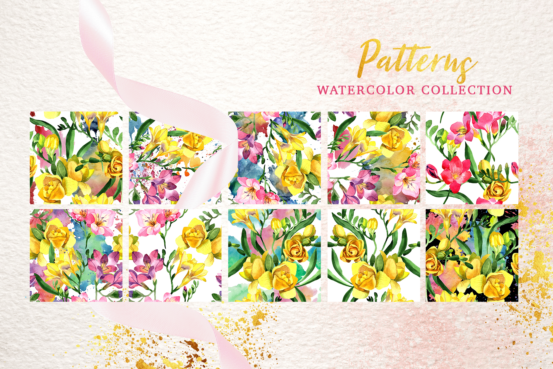 Floral Design collection watercolor png example image 3