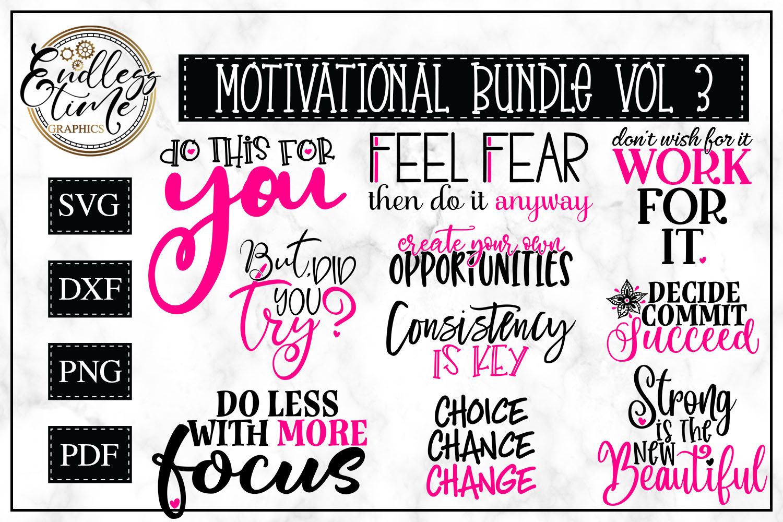 Motivational Bundle 3 - 10 Motivational Quote SVGs example image 1