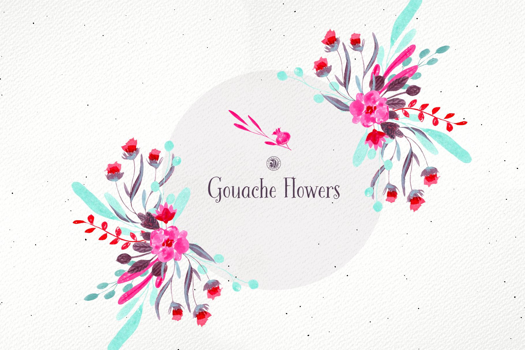 Gouache Flowers example image 3