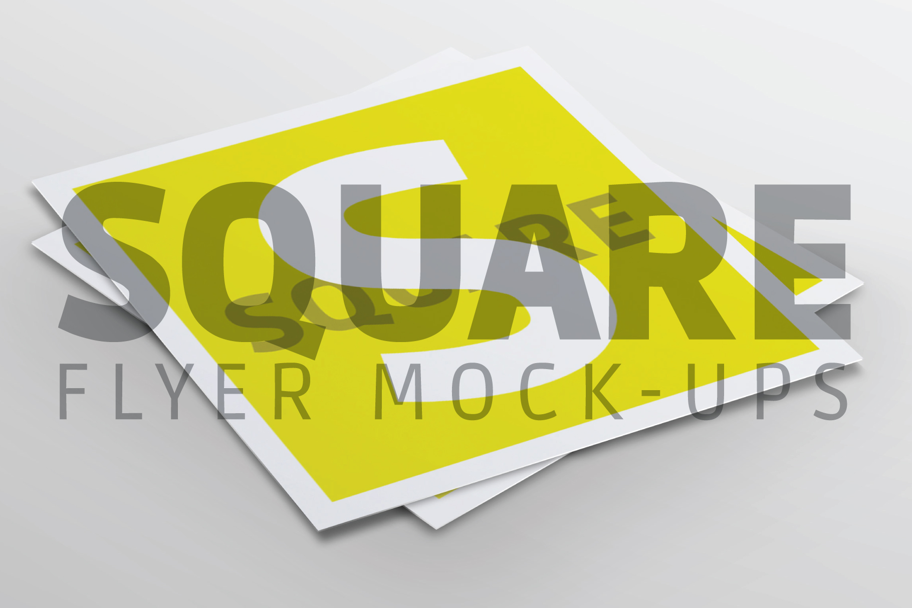Square Flyer Mock-Up example image 1