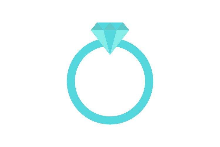 Ring icon with diamond example image 1