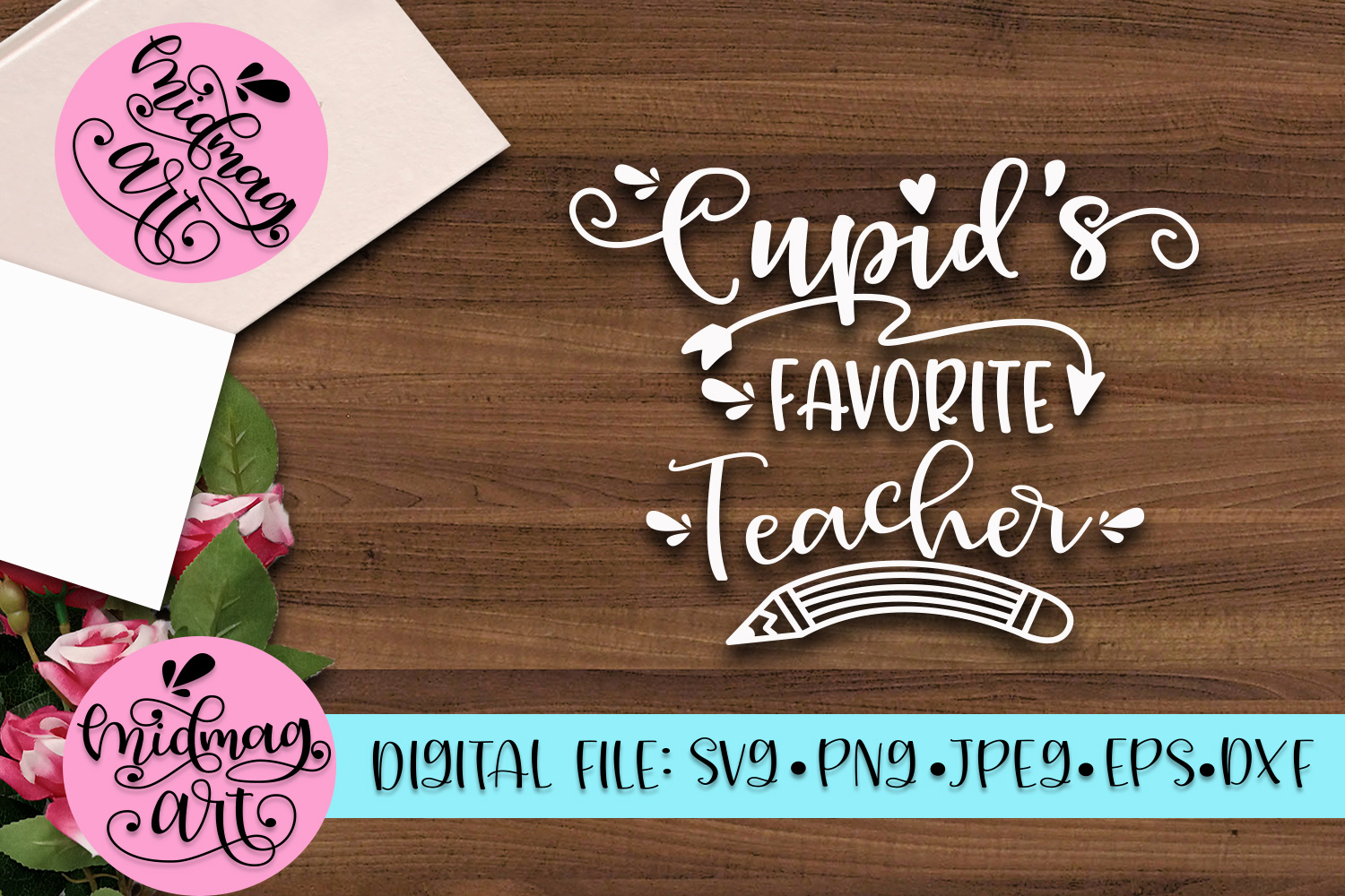 Cupids's favorite Teacher svg, png, jpeg, eps and dxf example image 2