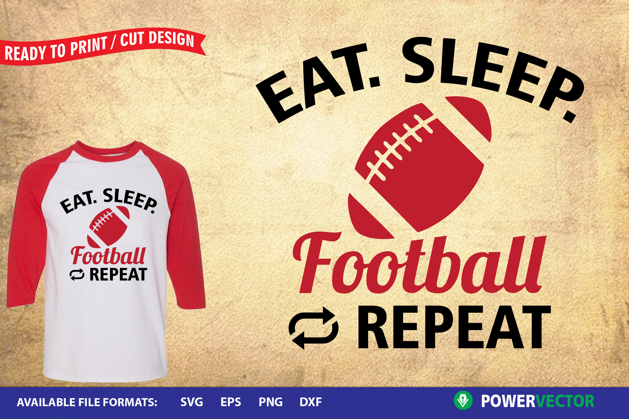 Sports Design SVG Collection | Eat Sleep Play Cut Files example image 4