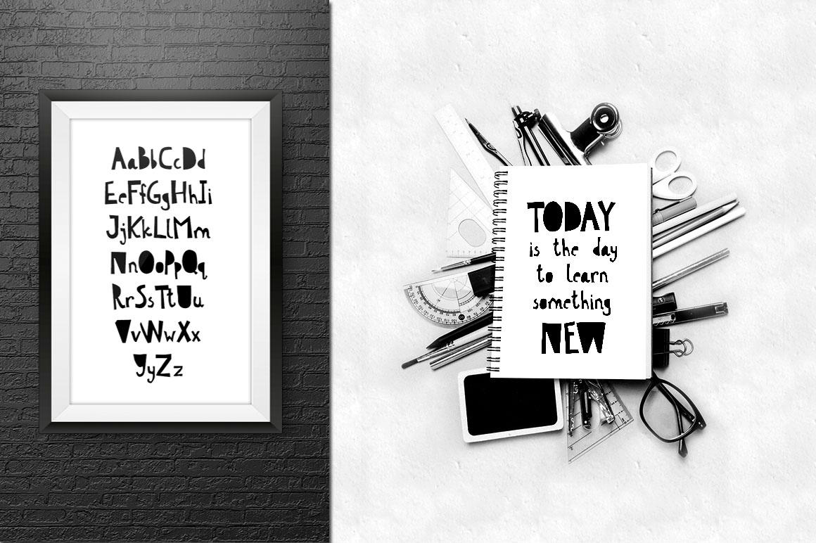 Scandinavian kids font & patterns example image 6