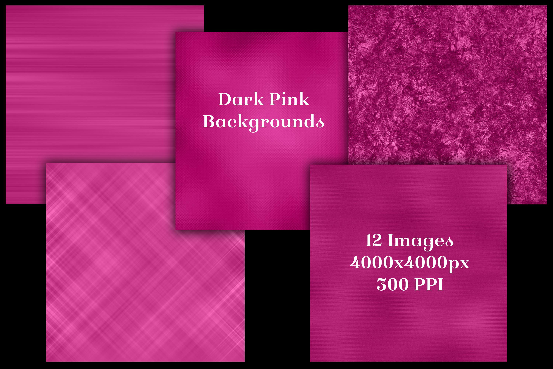 Dark Pink Backgrounds - 12 Image Textures Set example image 2