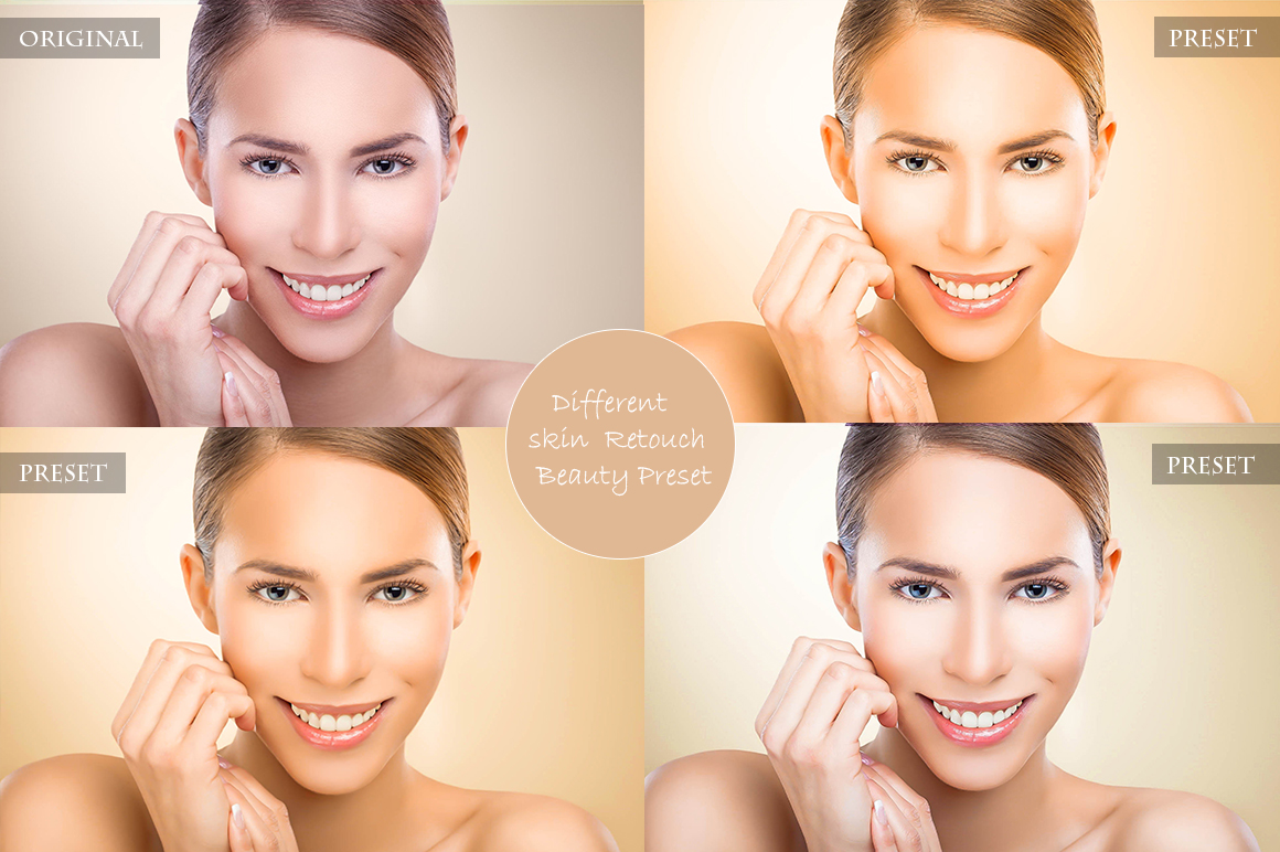 Professional skin Retouch Beauty Preset example image 3