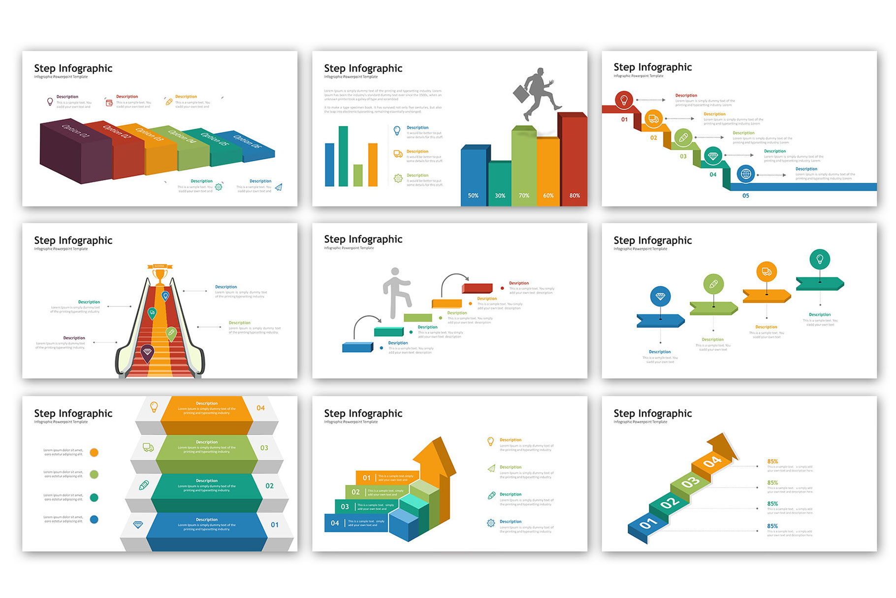 Step Presentation - Infographic Template example image 4