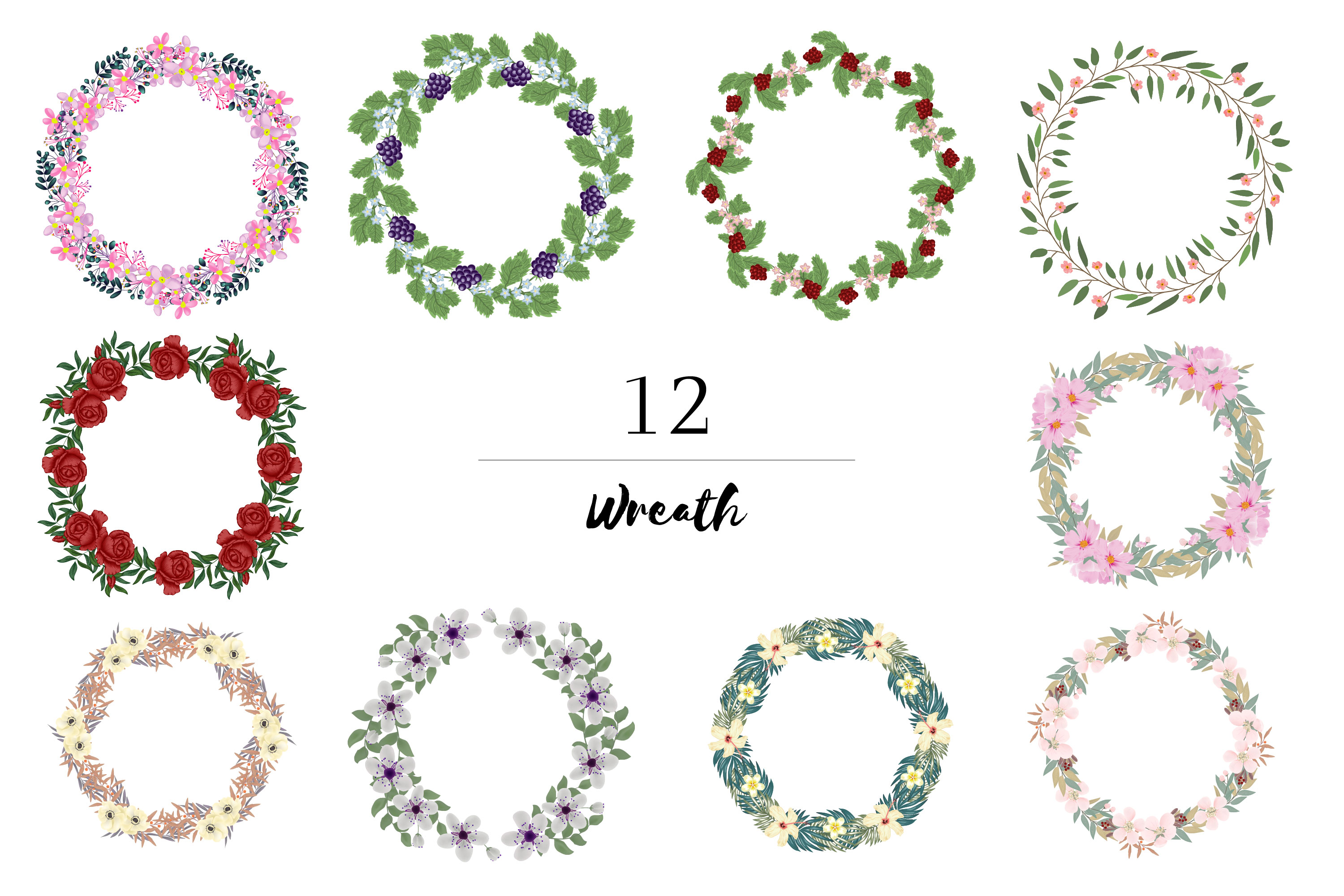 150 Flower and Floral Vector Illustration Element example image 3