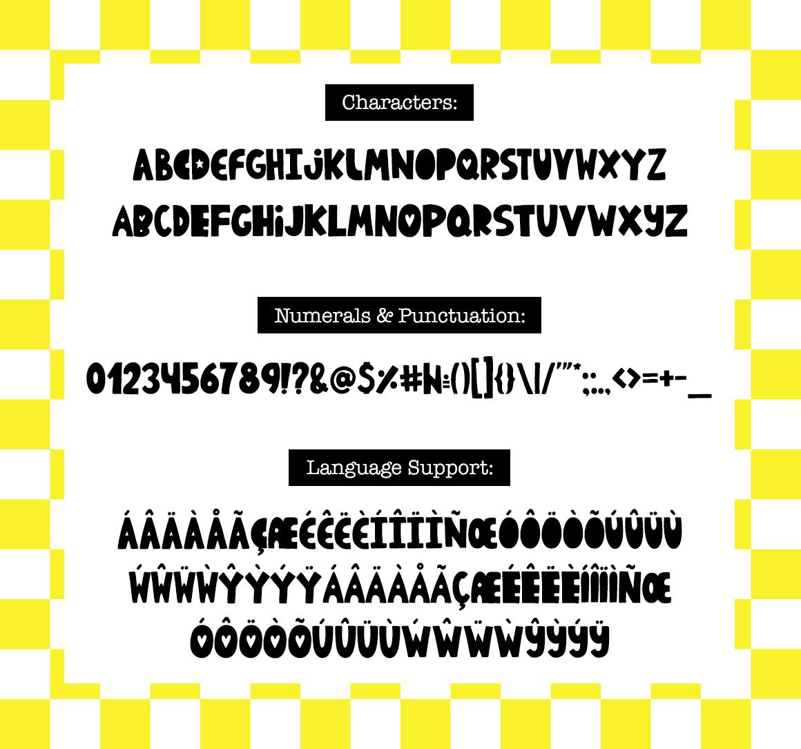 De Plaisir Autour - typeface example image 6