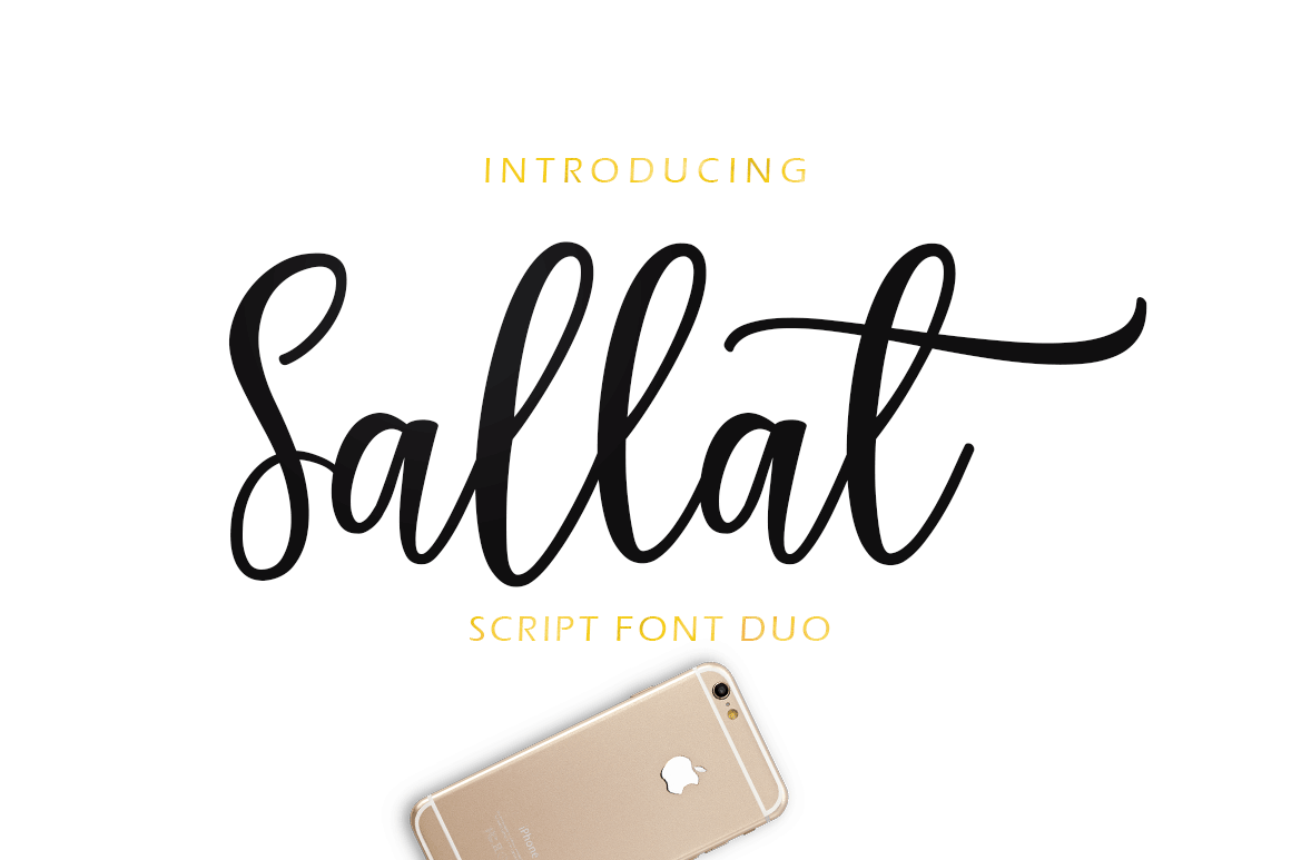 Sallat Font Duo example image 2