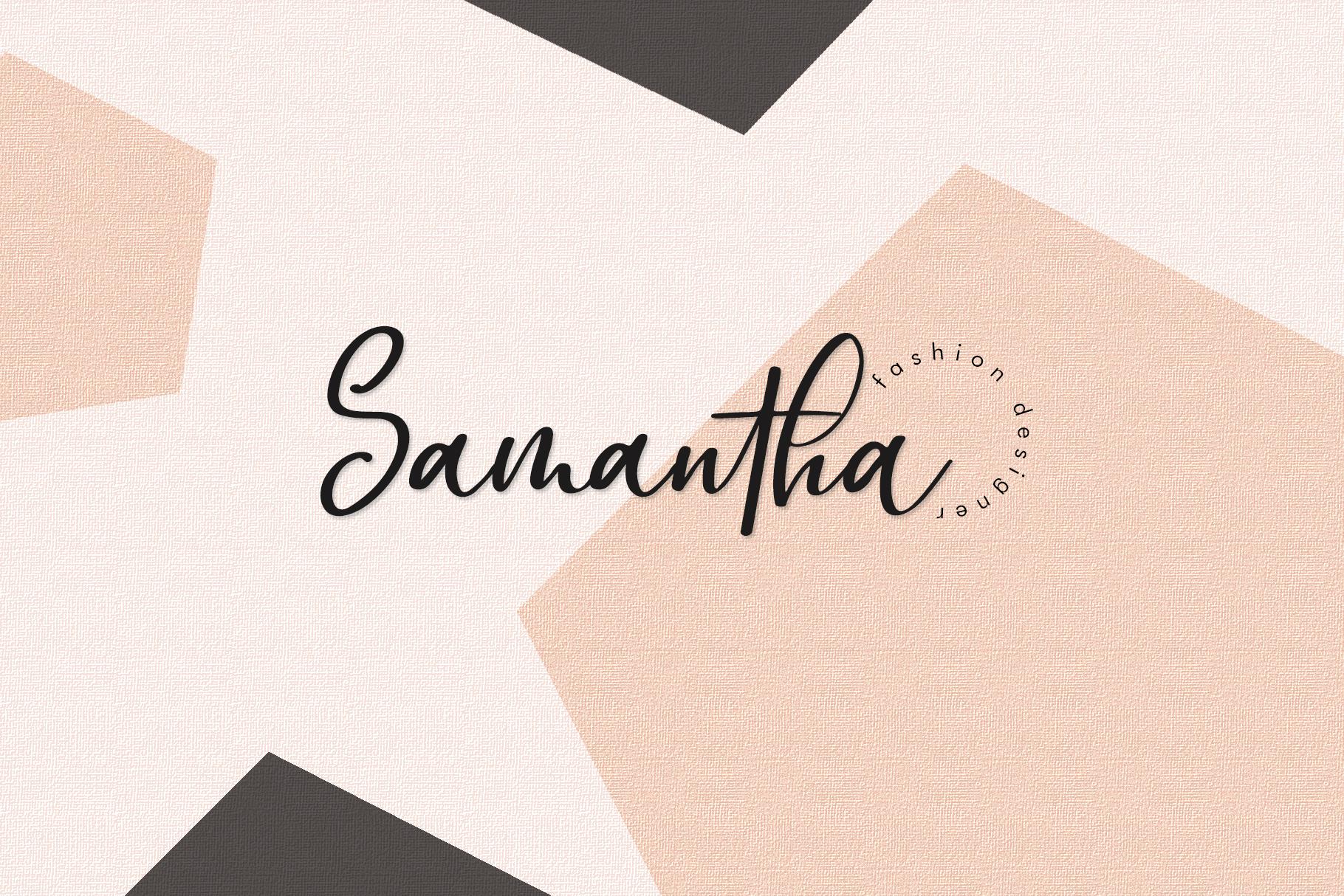 Omarta - Signature Font example image 5