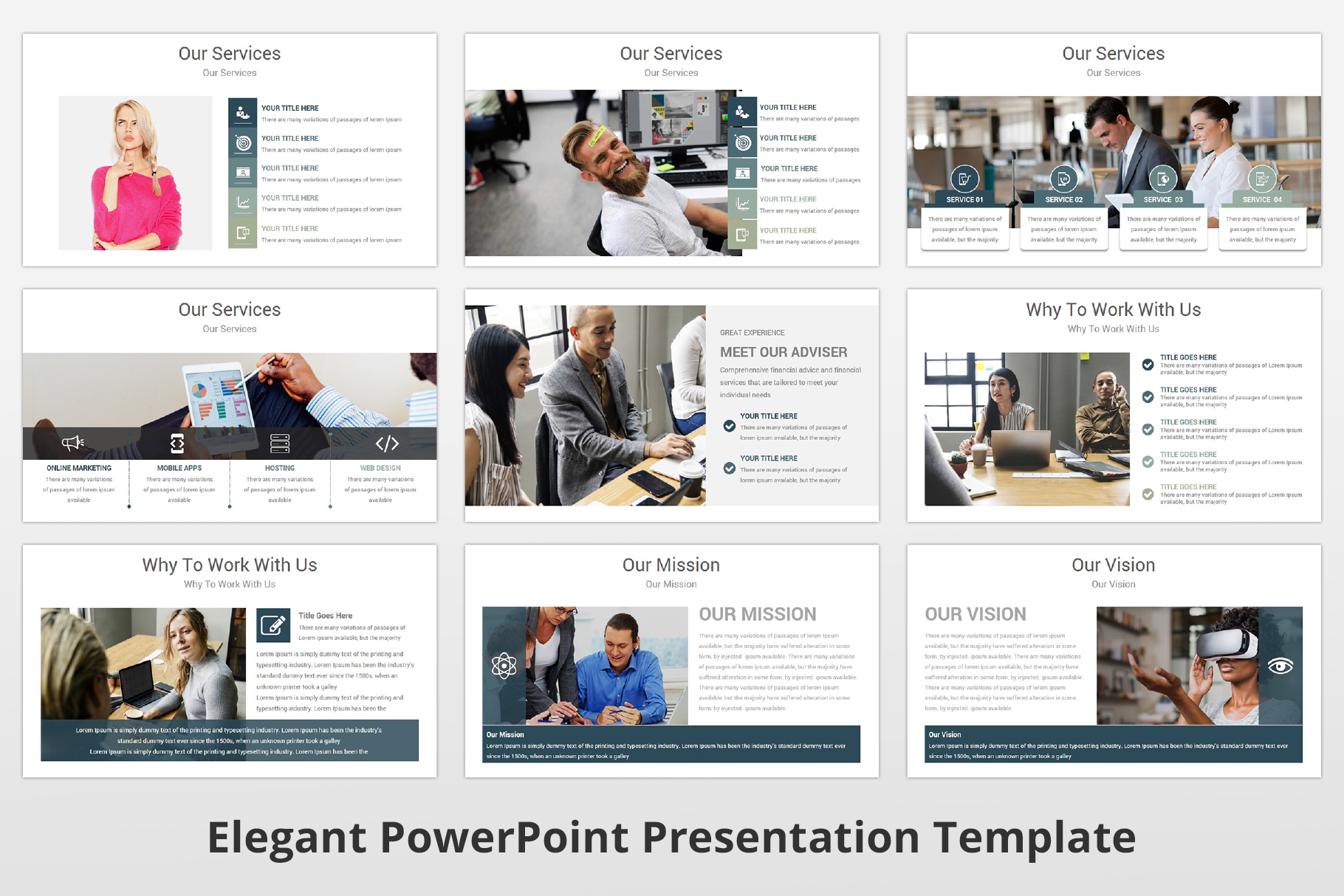 Elegant multipurpose PowerPoint Presentation Template example image 6