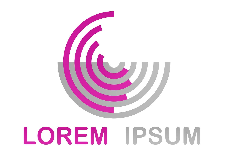 60 round geometric logo designs (EPS, AI, SVG, JPG 4800x4800) example image 3