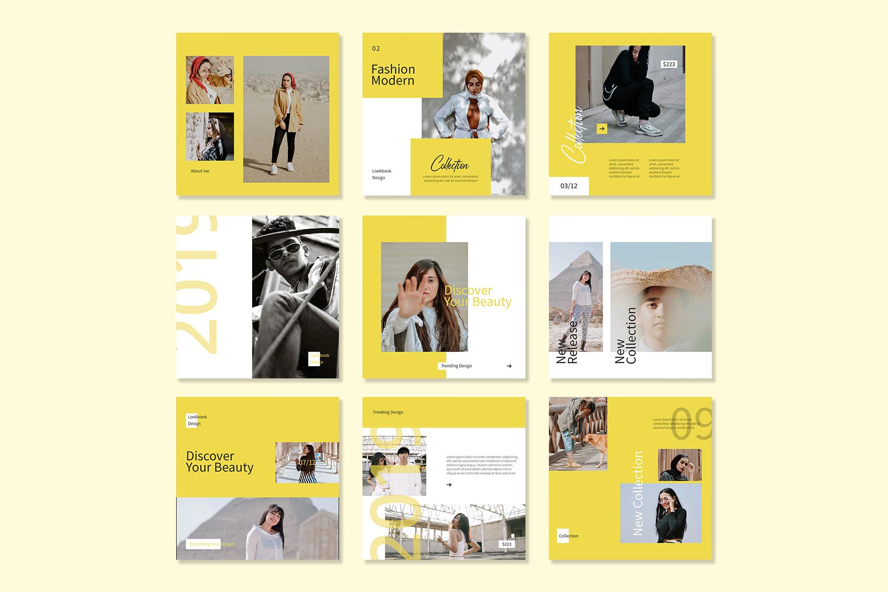 Yellow Instagram Templates example image 5