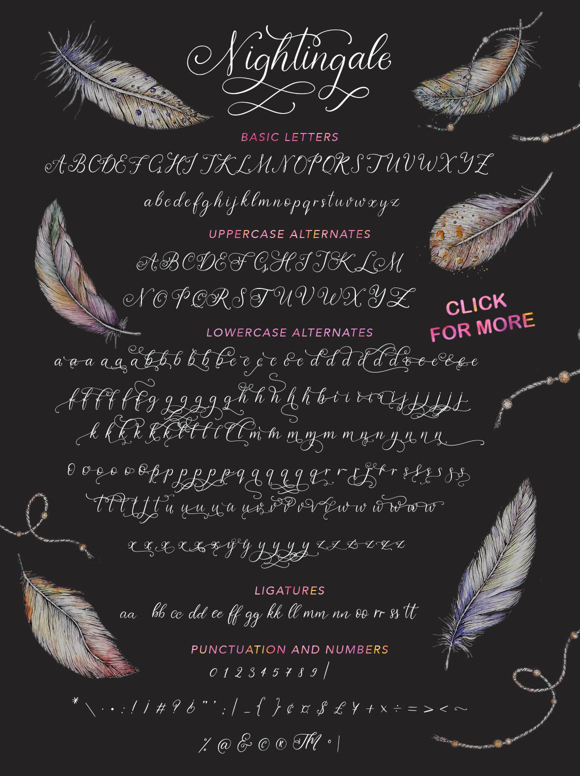 Nightingale script & bonus clip arts. example image 11
