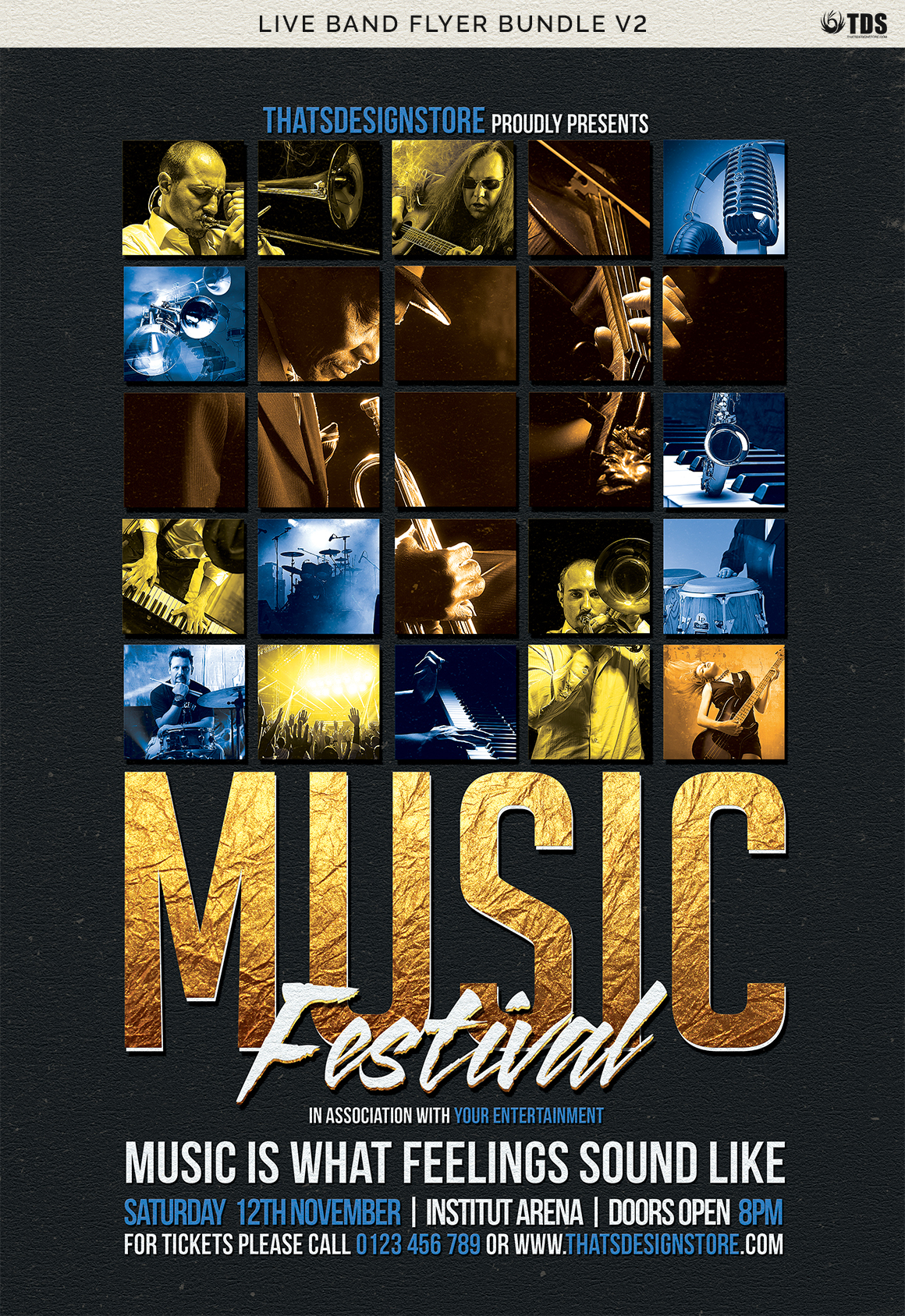 Live Band Flyer Bundle V2 example image 15