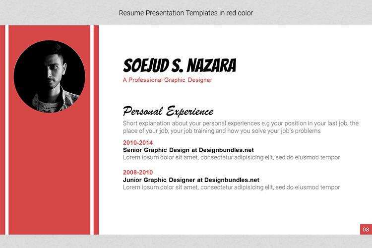 A4 Resume Templates Word example image 25