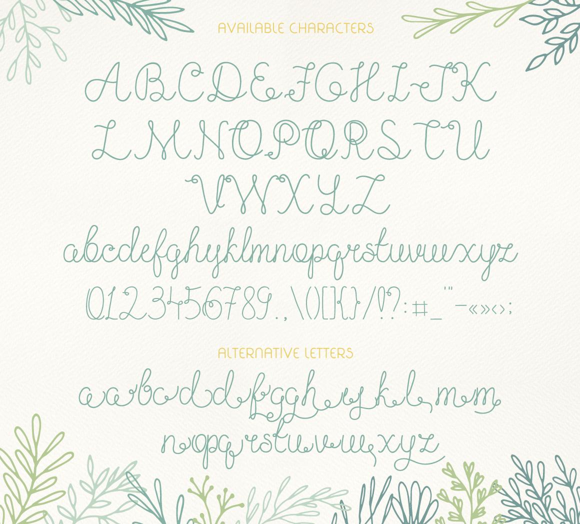 Olesia Script example image 3