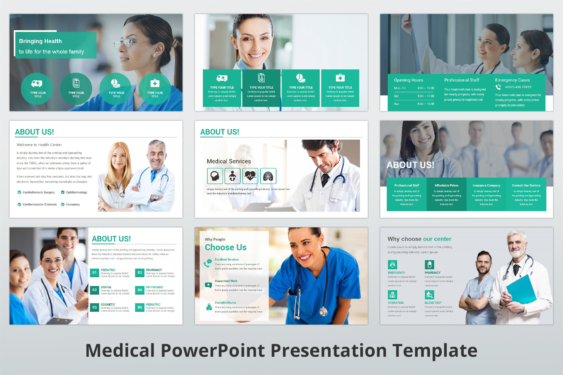 Medical and Healthcare Presentation PowerPoint Template example image 5