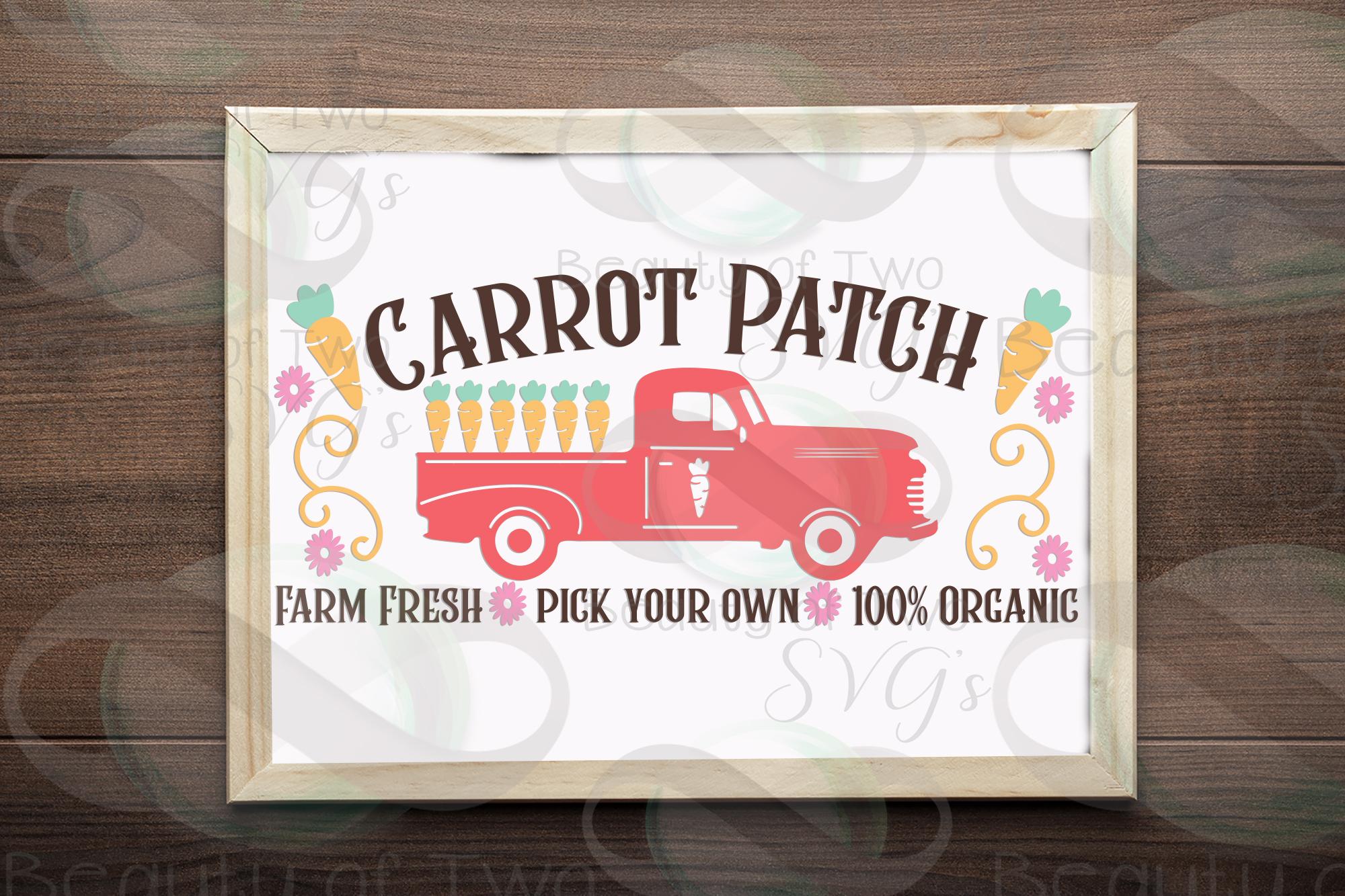 Easter Vintage Truck Carrot Patch svg, Vintage Truck svg, example image 3