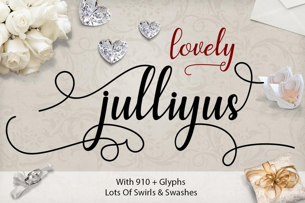 Julliyus Script example image 9