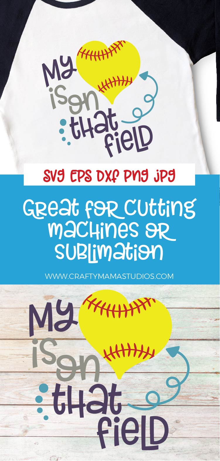 Softball Mom SVG, My Heart Is On That Field SVG, Girl Power example image 3