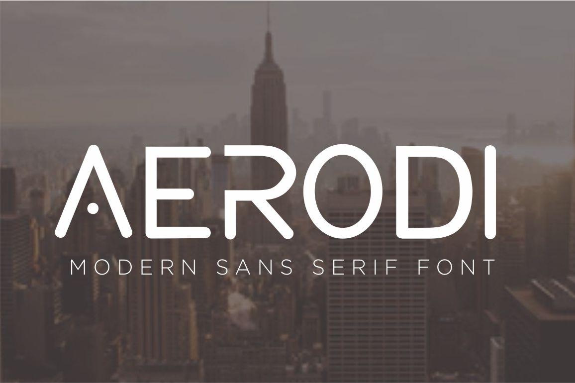 AERODI - Modern Sans Serif example image 1