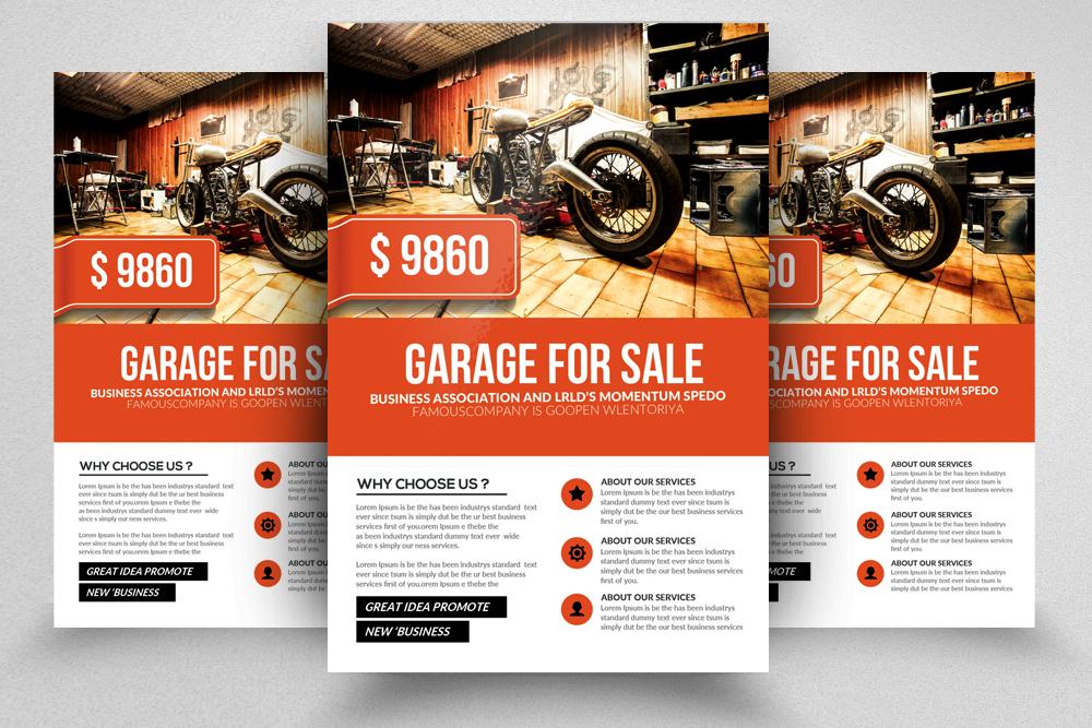 Garage Sale Promo Flyer Templates example image 1