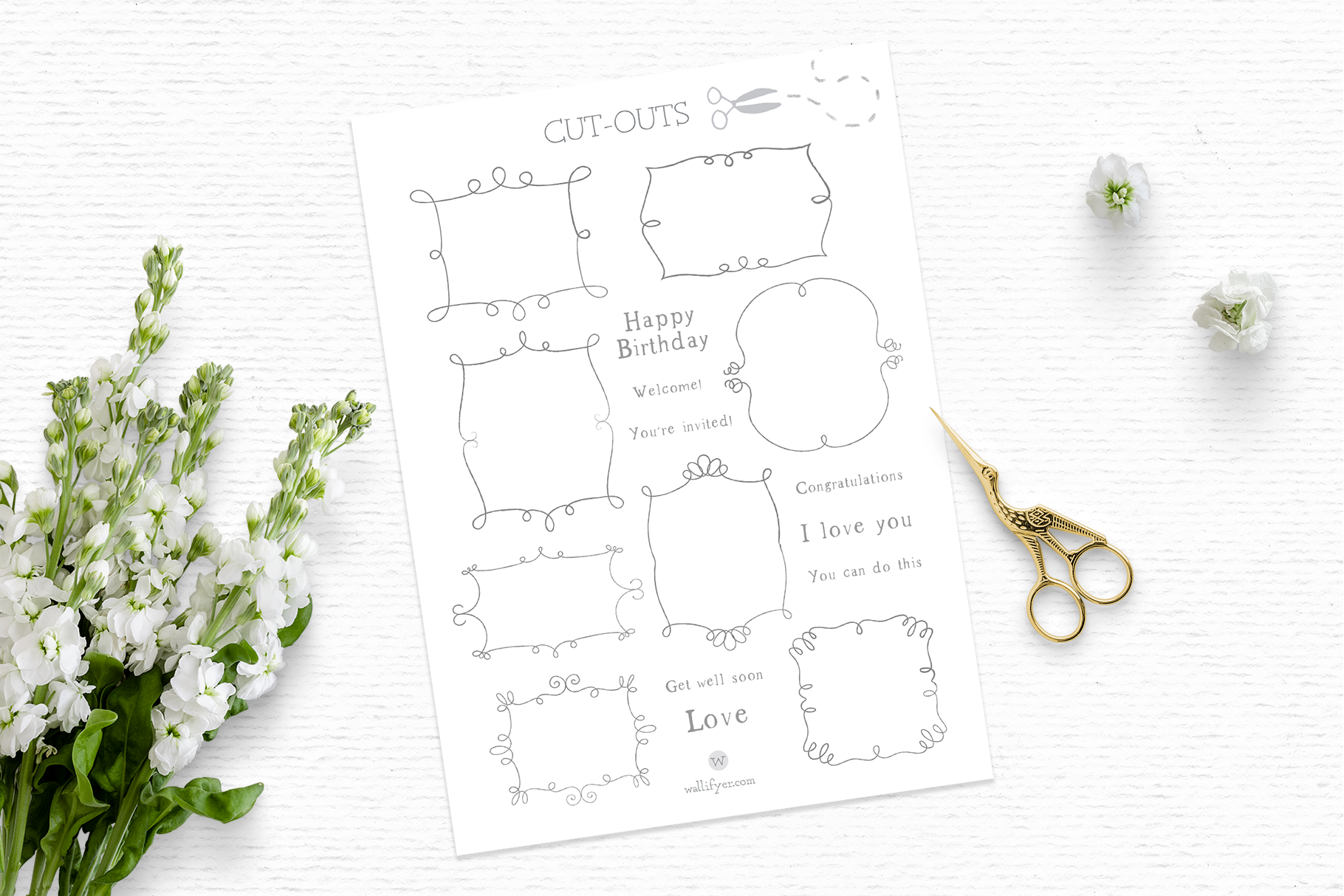 Doodle frame clipart, vintage frame clipart, whimsical example image 3
