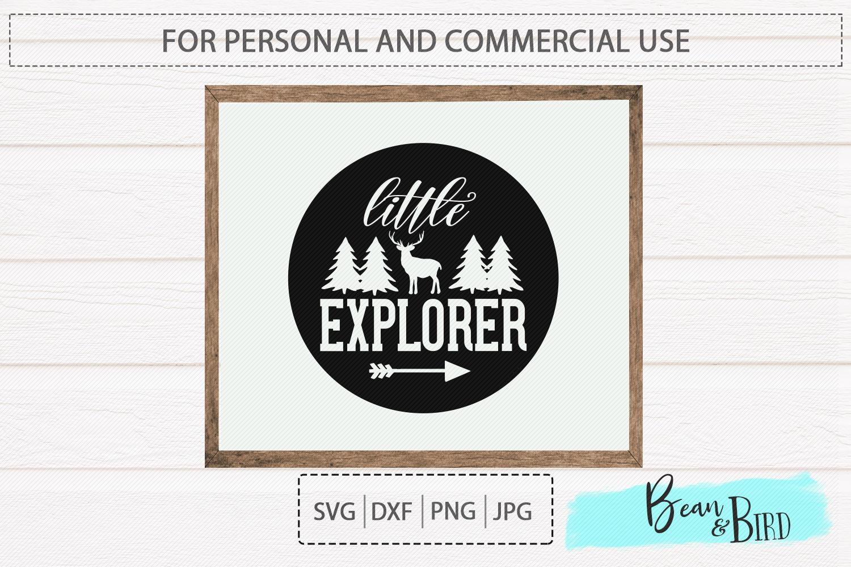 Little Explorer Kids Svg Sign Design example image 1