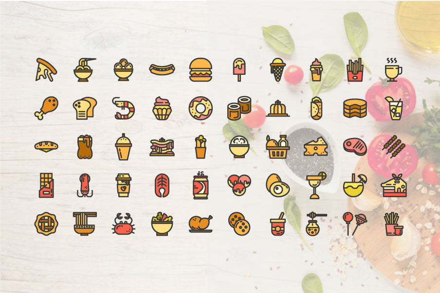 200 Food and Beverage Icon Pack example image 5
