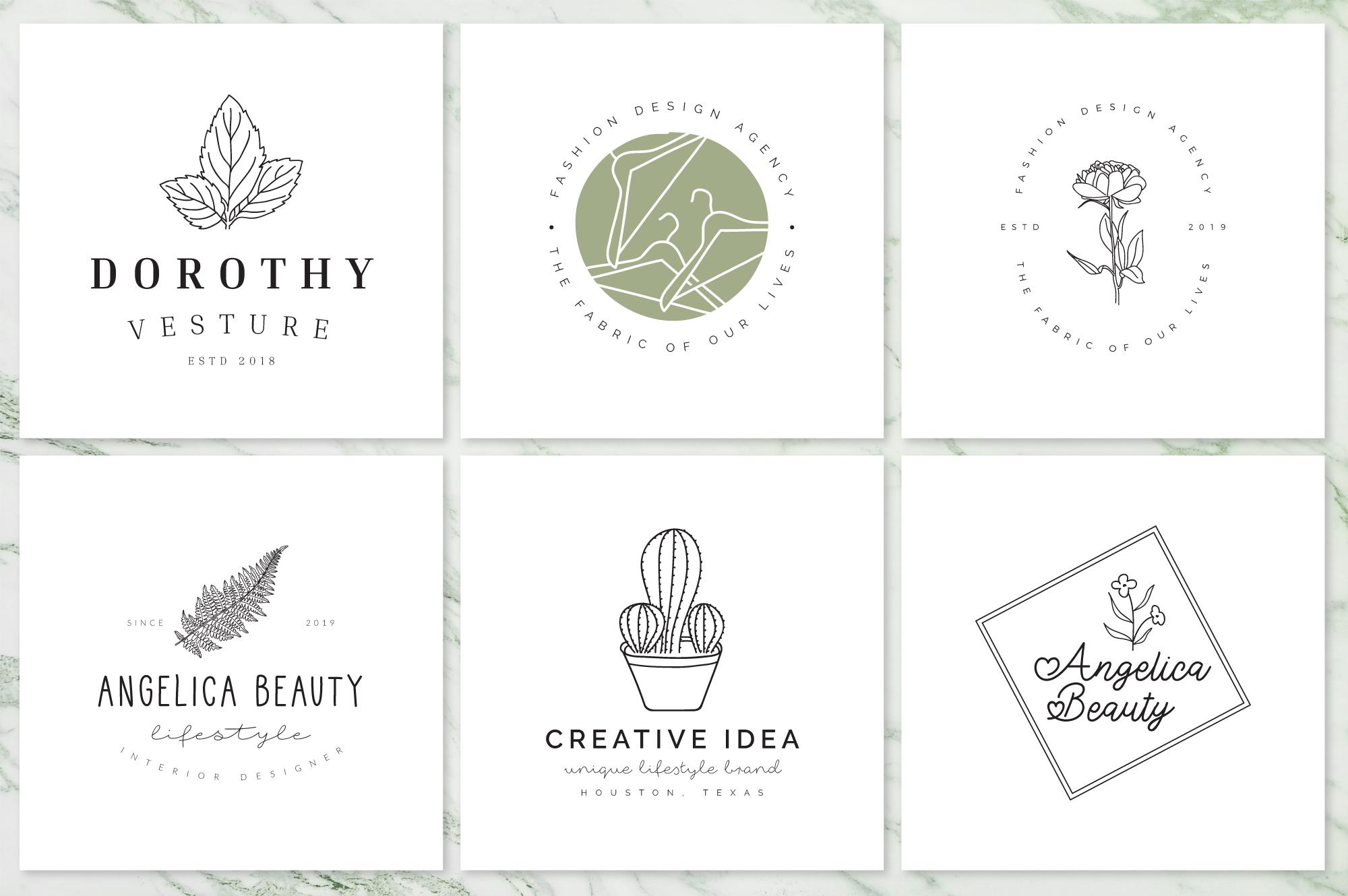 Feminine Branding Premade Logos V02 example image 6