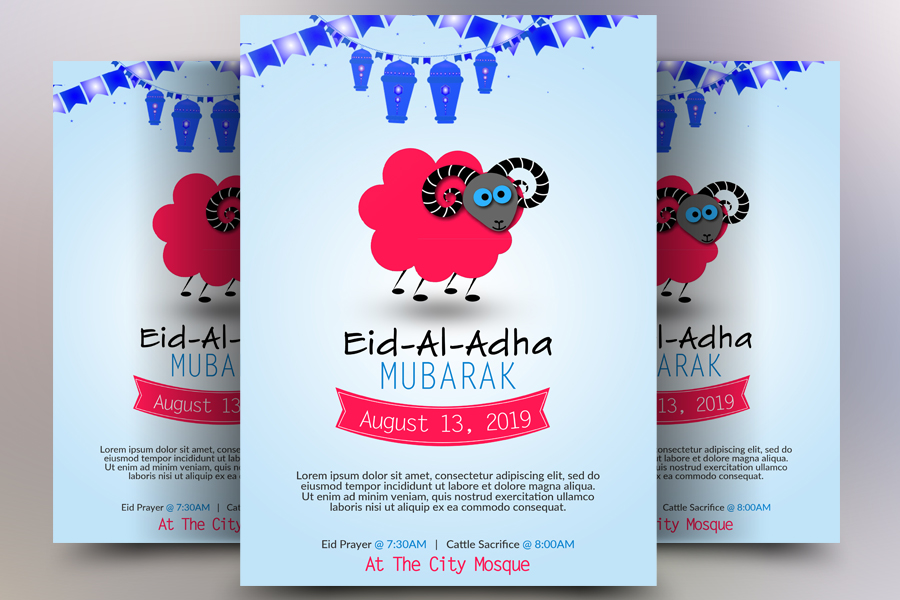 Eid al Adha Flyer example image 1