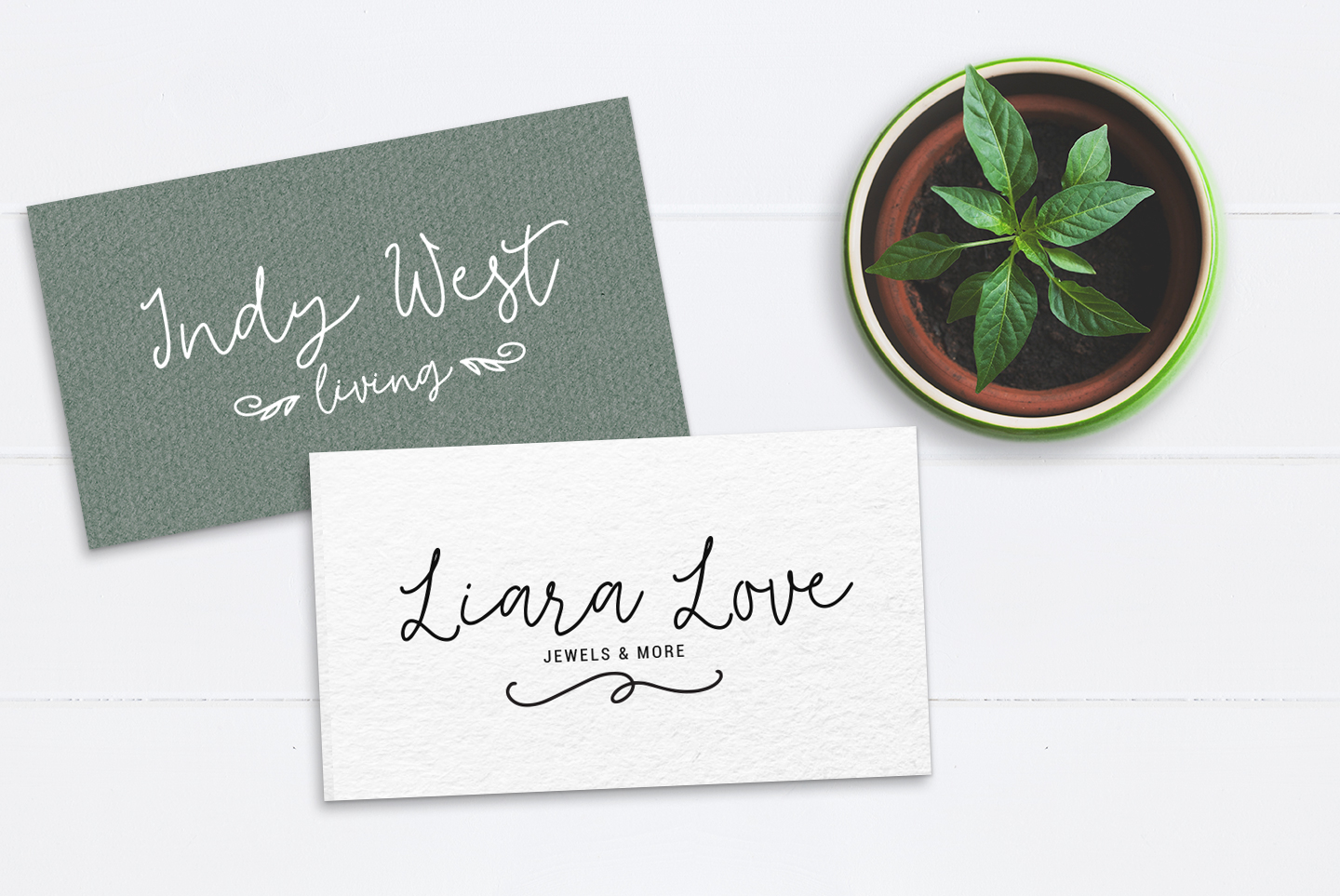 Tilly, a lovely, romantic, wedding font with bonus clipart example image 5