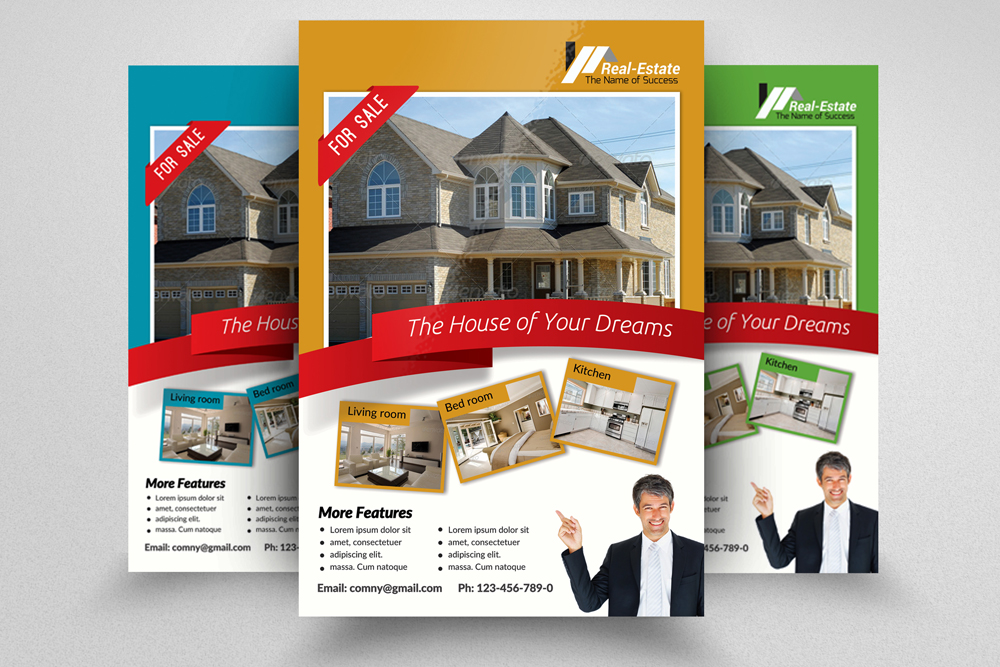 6 Real Estate Business Flyers Bundle example image 7