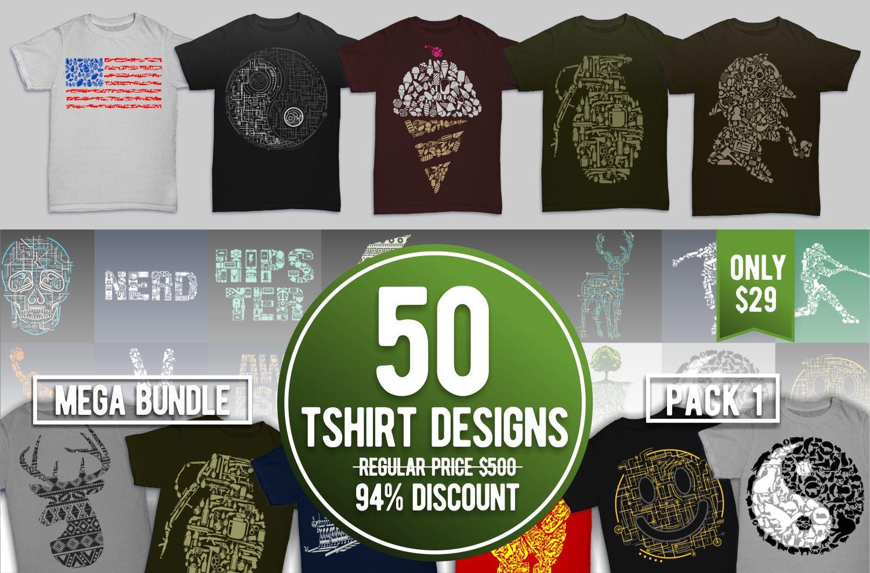 Tshirt Designs Mega Bundle Pack 1 example image 5