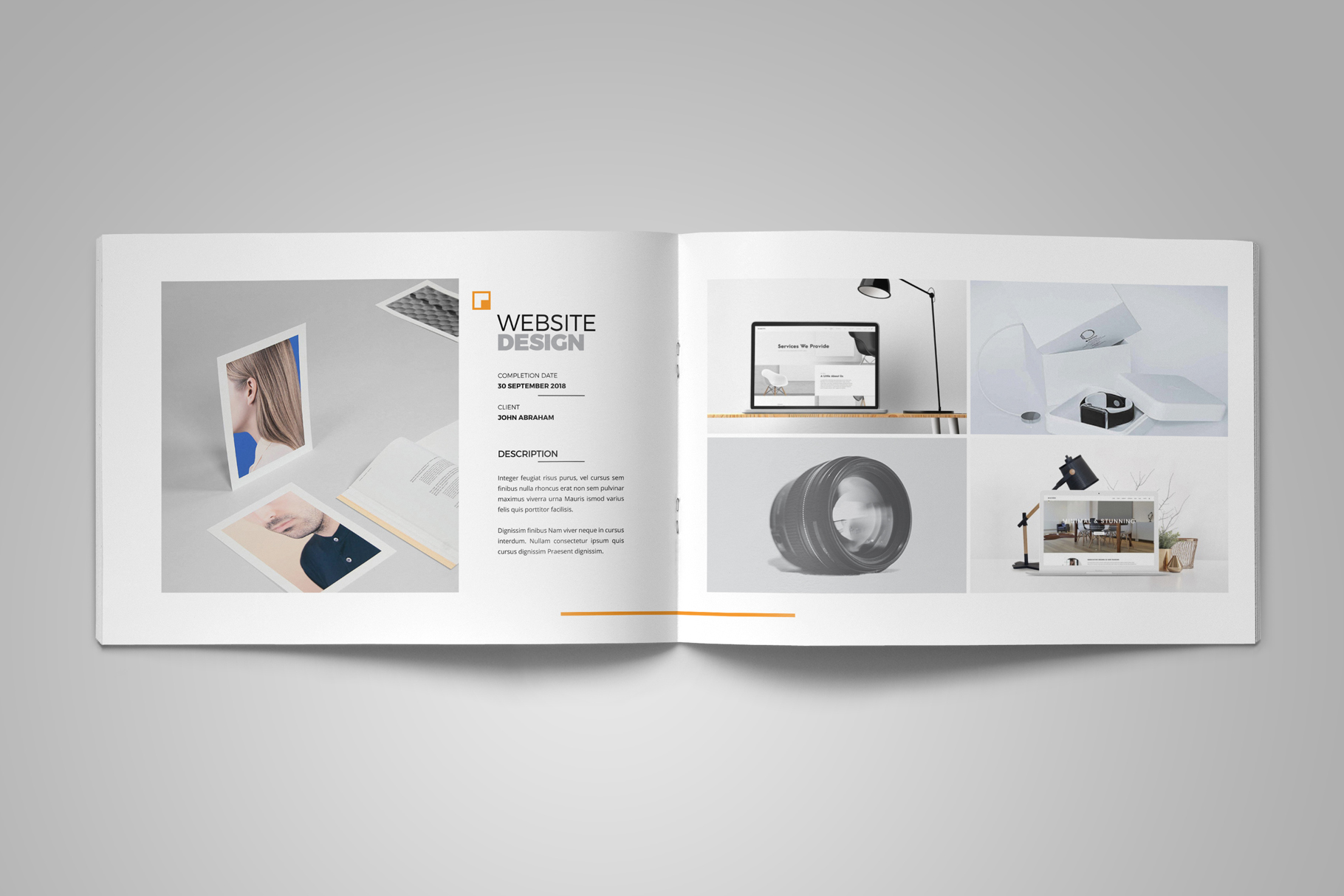 Portfolio Brochure Design v5 example image 8