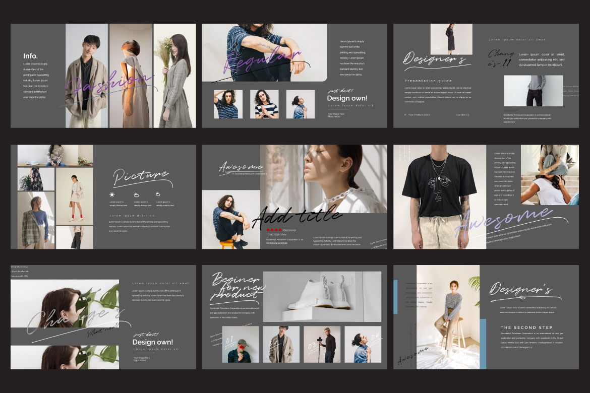 Change's - Fashion Google Slides Dark example image 4