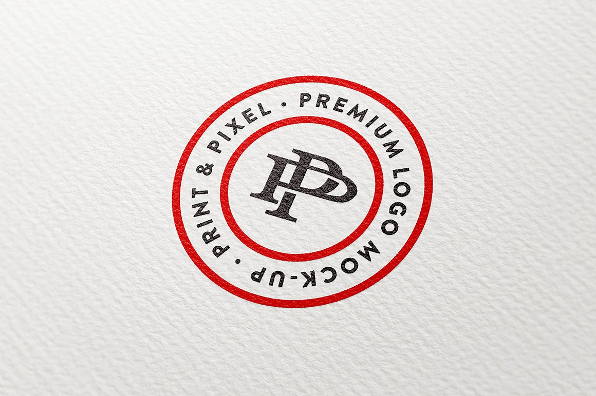 Clean paper logo mock-up example image 2