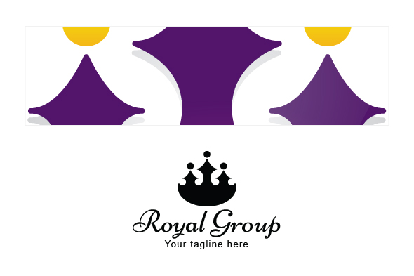 Royal Group - Abstract Crown Shape with Studs as Human Icons example image 3