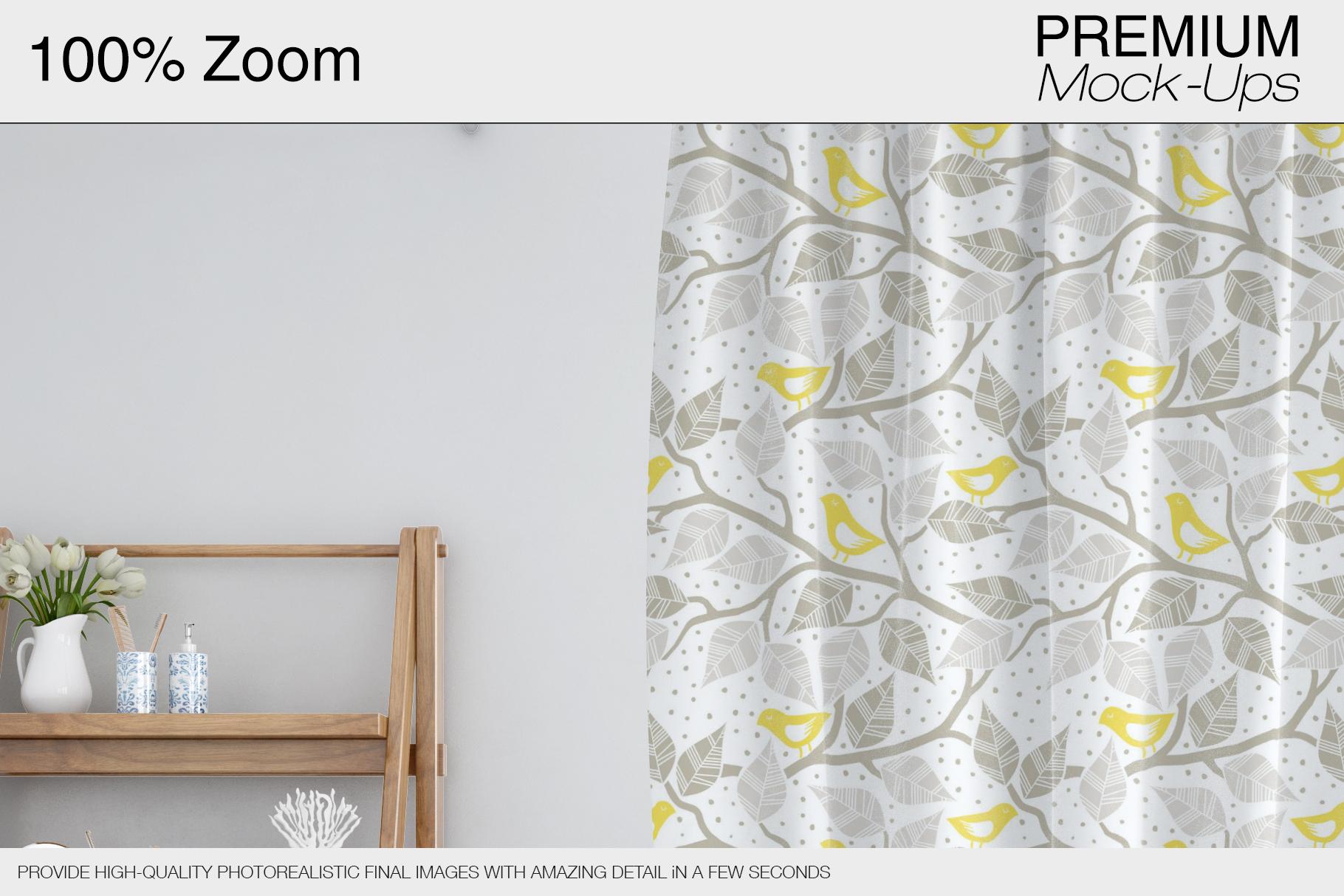 Bath Curtain Mockups example image 7