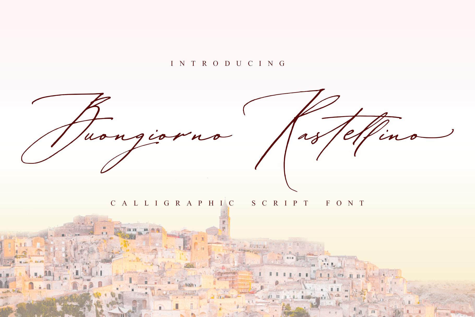 Buongiorno Rastellino script font example image 1