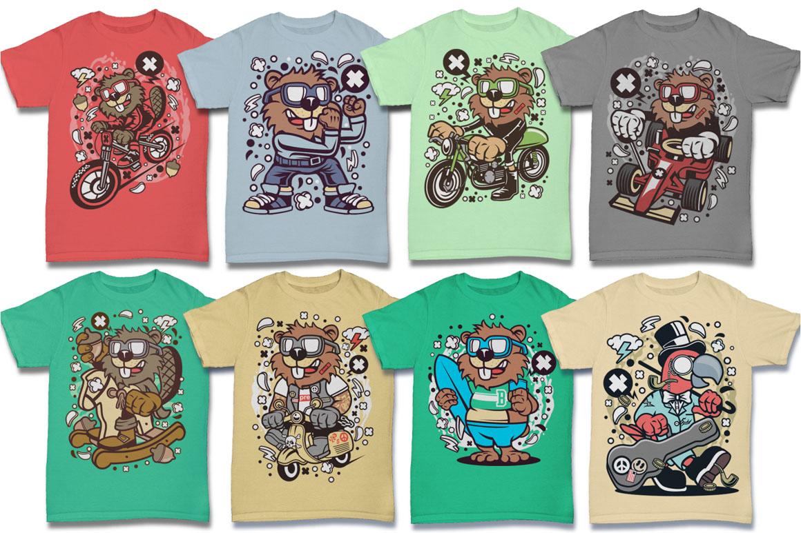 Cartoon Vector #6 Tshirt Design Bundle example image 4