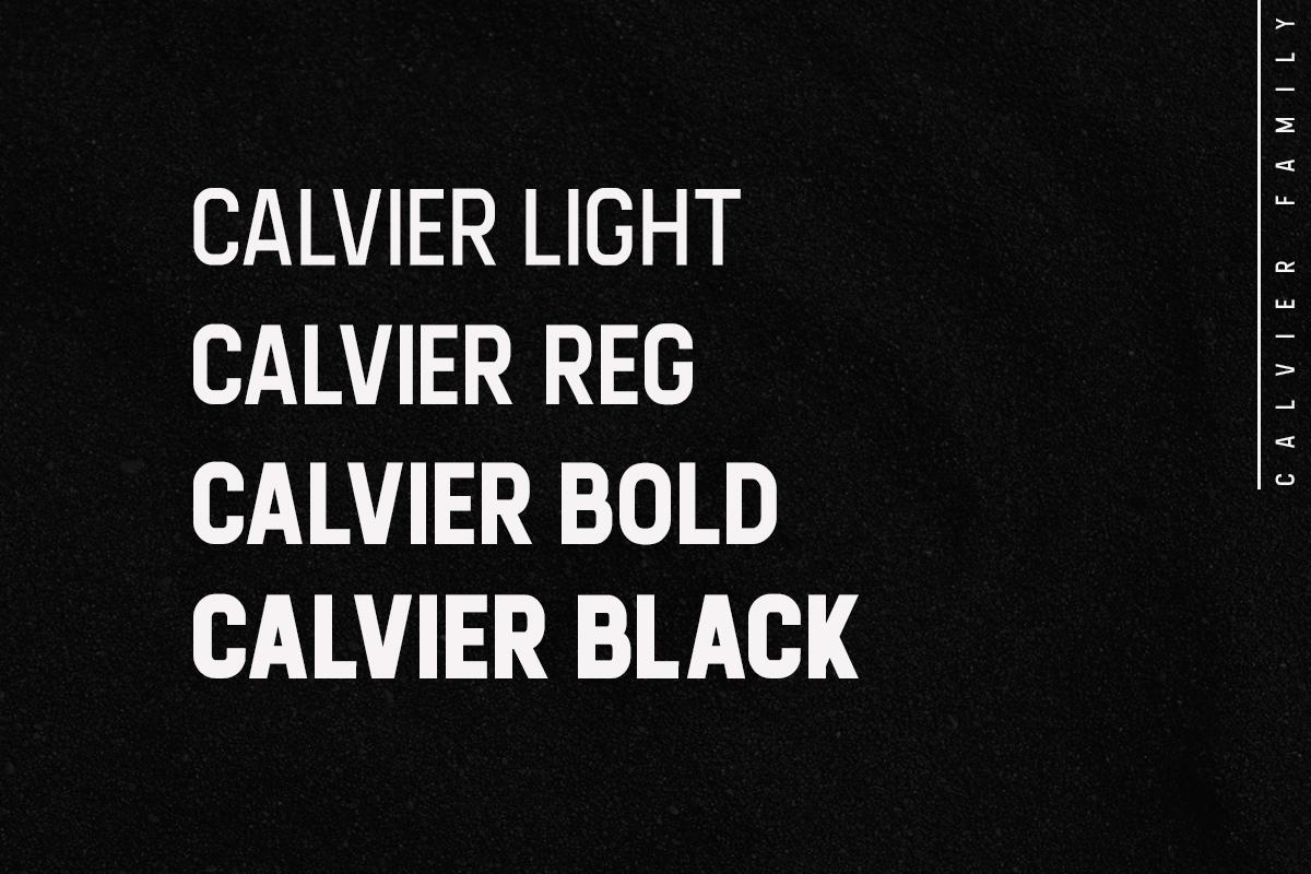 Calvier - Headline Sans Family example image 2