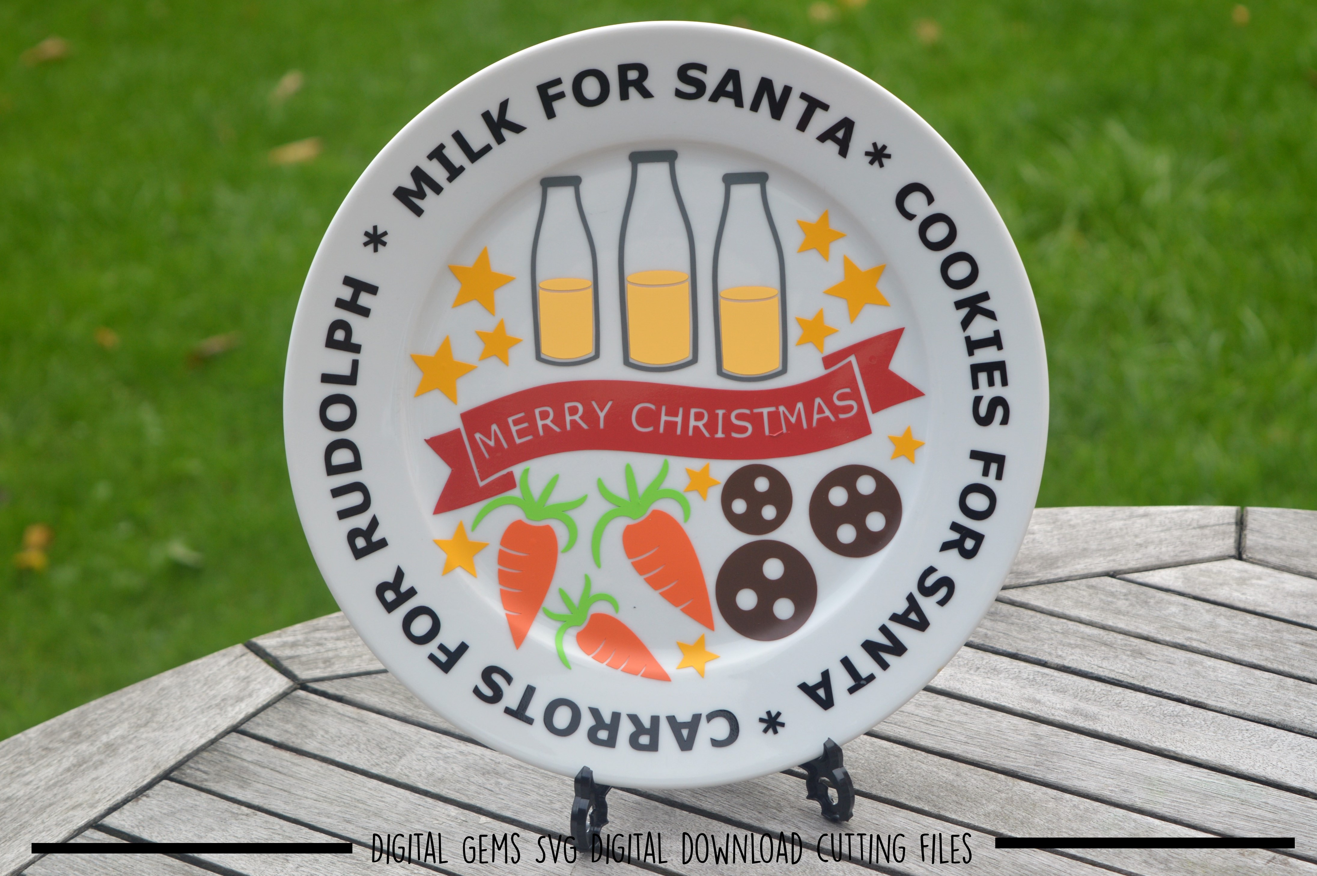 Christmas Plate SVG / PNG / EPS / DXF files example image 2