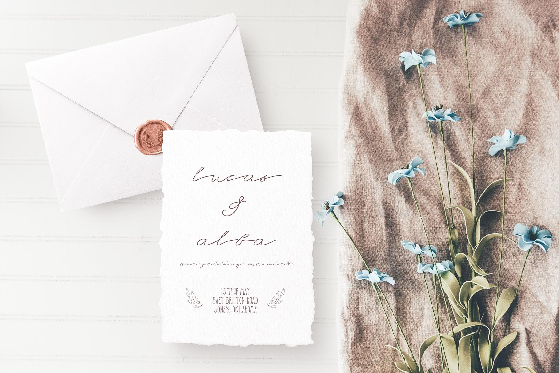 Serene Beauty Handwritten Font Duo example image 6