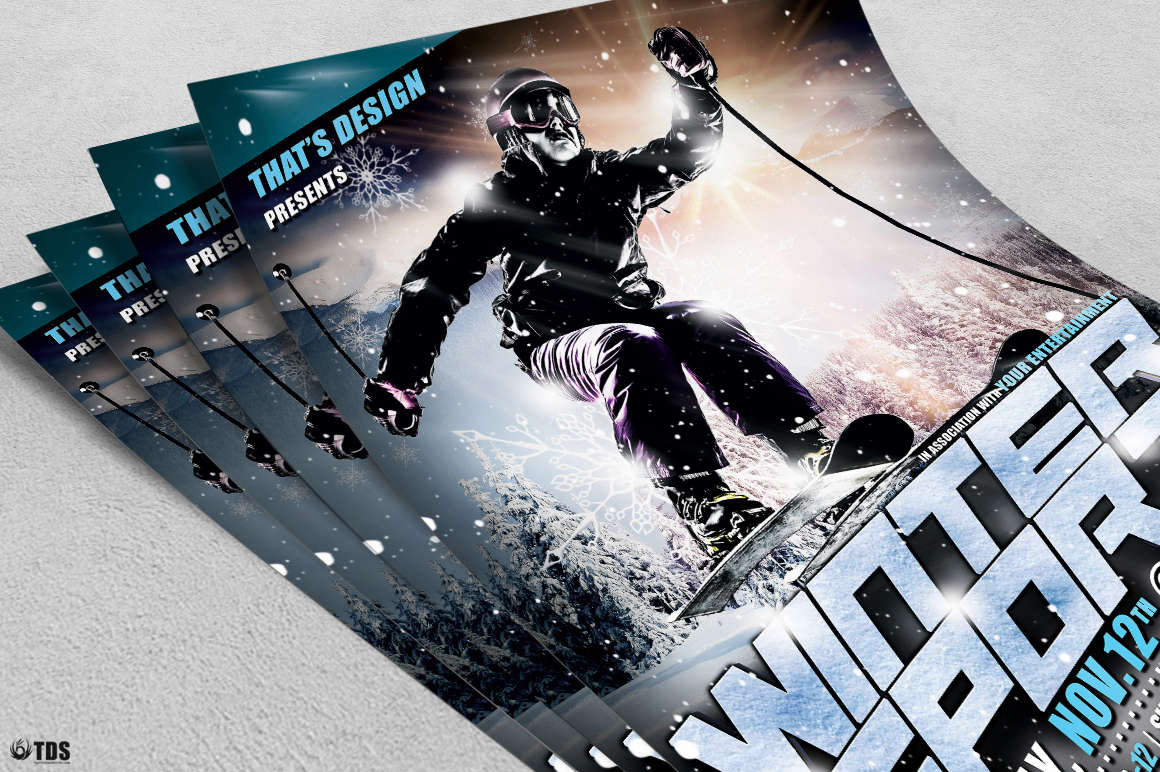 Winter Sports Flyer Template V1 example image 5