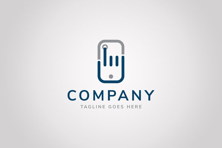 Hand Phone Logo example image 1
