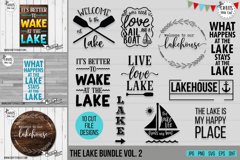 The Lake Bundle Vol. 2- A Summer/Lake SVG Cut File Bundle example image 1